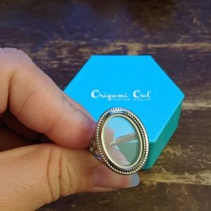 Origami Owl silver heirloom locket ring